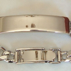 Avon Accessories - Mens  ID bracelet Silver Tone Sz Large by Avon
